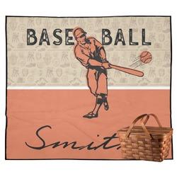 Retro Baseball Outdoor Picnic Blanket (Personalized)