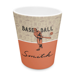 Retro Baseball Plastic Tumbler 6oz (Personalized)