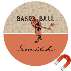 Retro Baseball Car Magnet (Personalized)