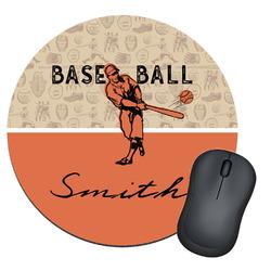 Retro Baseball Round Mouse Pad (Personalized)