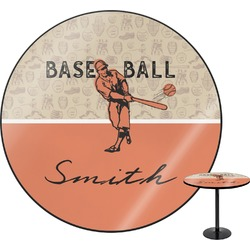 Retro Baseball Round Table (Personalized)