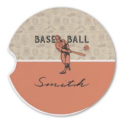 Retro Baseball Sandstone Car Coasters (Personalized)