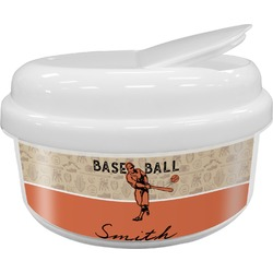 Retro Baseball Snack Container (Personalized)