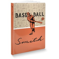 Retro Baseball Softbound Notebook (Personalized)