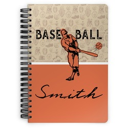 Retro Baseball Spiral Bound Notebook (Personalized)