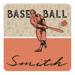 Retro Baseball Square Decal (Personalized)