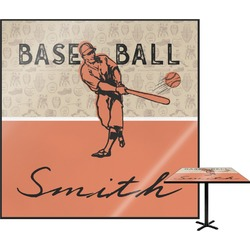 Retro Baseball Square Table Top (Personalized)