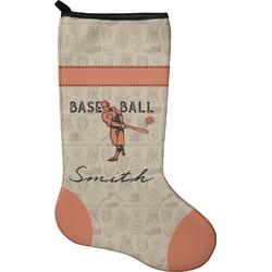Retro Baseball Christmas Stocking - Neoprene (Personalized)