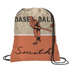 Retro Baseball Drawstring Backpack (Personalized)