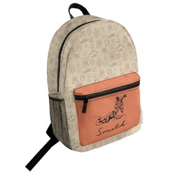Retro Baseball Student Backpack (Personalized)