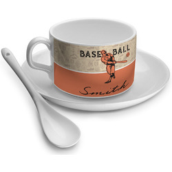 Retro Baseball Tea Cup - Single (Personalized)