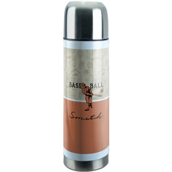 Retro Baseball Stainless Steel Thermos (Personalized)