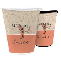 Retro Baseball Waste Basket (Personalized)