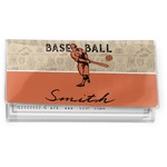 Retro Baseball Vinyl Checkbook Cover (Personalized)