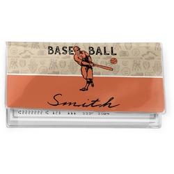 Retro Baseball Vinyl Checkbook Cover (Personalized)