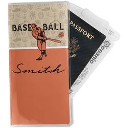 Retro Baseball Travel Document Holder