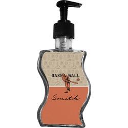 Retro Baseball Wave Bottle Soap / Lotion Dispenser (Personalized)