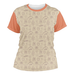 Retro Baseball Women's Crew T-Shirt (Personalized)