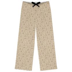 Retro Baseball Womens Pajama Pants (Personalized)