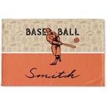Retro Baseball Woven Mat (Personalized)