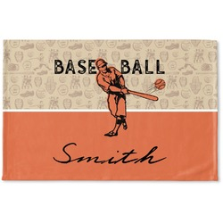 Retro Baseball Woven Mat (Personalized)
