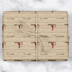 Retro Baseball Wrapping Paper (Personalized)