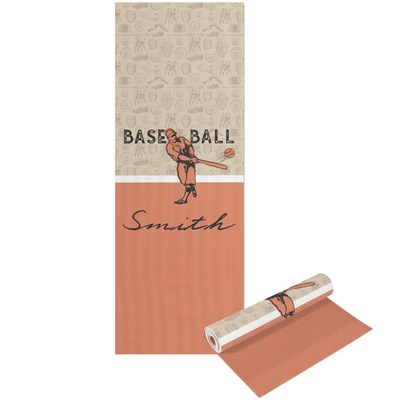 Retro Baseball Yoga Mat - Printable Front and Back (Personalized)