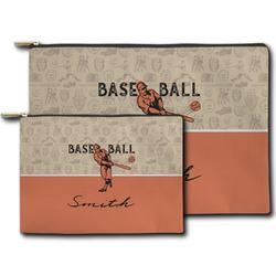 Retro Baseball Zipper Pouch (Personalized)