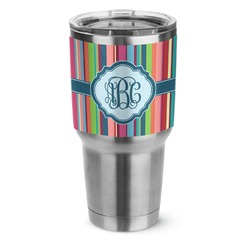 Retro Vertical Stripes2 Stainless Steel Tumbler - 30 oz (Personalized)