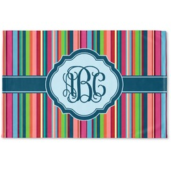 Retro Vertical Stripes2 Woven Mat (Personalized)