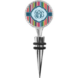 Retro Vertical Stripes2 Wine Bottle Stopper (Personalized)
