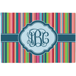 Retro Vertical Stripes2 Placemat (Fabric) (Personalized)