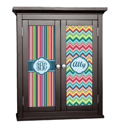 Retro Vertical Stripes2 Cabinet Decal - Custom Size (Personalized)