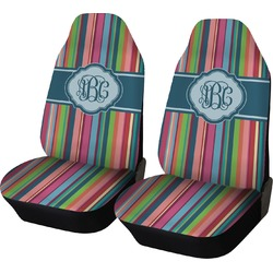Retro Vertical Stripes2 Car Seat Covers (Set of Two) (Personalized)