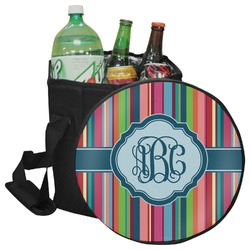 Retro Vertical Stripes2 Collapsible Cooler & Seat (Personalized)