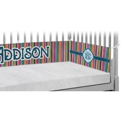 Retro Vertical Stripes2 Crib Bumper Pads (Personalized)