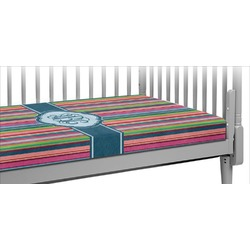 Retro Vertical Stripes2 Crib Fitted Sheet (Personalized)