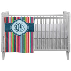 Retro Vertical Stripes2 Crib Comforter / Quilt (Personalized)
