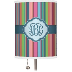 Retro Vertical Stripes2 Drum Lamp Shade (Personalized)