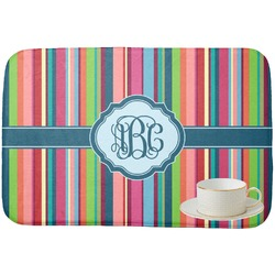 Retro Vertical Stripes2 Dish Drying Mat (Personalized)