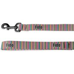 Retro Vertical Stripes2 Deluxe Dog Leash (Personalized)