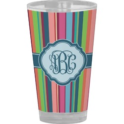 Retro Vertical Stripes2 Drinking / Pint Glass (Personalized)