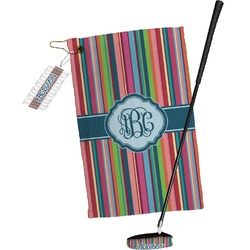 Retro Vertical Stripes2 Golf Towel Gift Set (Personalized)