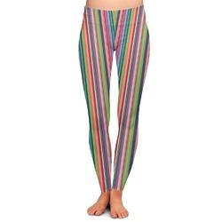 Retro Vertical Stripes2 Ladies Leggings (Personalized)