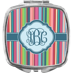 Retro Vertical Stripes2 Compact Makeup Mirror (Personalized)