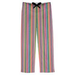 Retro Vertical Stripes2 Mens Pajama Pants (Personalized)