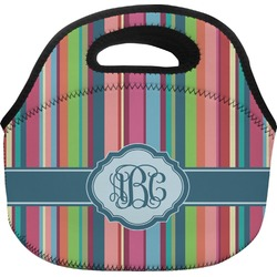 Retro Vertical Stripes2 Lunch Bag (Personalized)