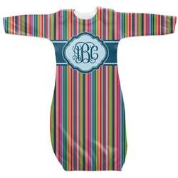 Retro Vertical Stripes2 Newborn Gown (Personalized)