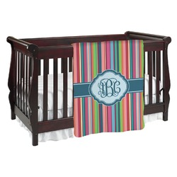Retro Vertical Stripes2 Baby Blanket (Personalized)