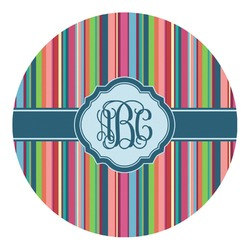 Retro Vertical Stripes2 Round Decal - Custom Size (Personalized)
